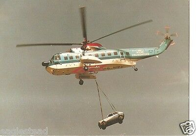 Helicopter Postcard - KLM - S-61 N - PH-NZK - Carrying Car Auto (P2519)