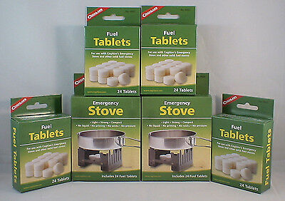 2 SURVIVAL EMERGENCY STOVE'S W 144  FUEL TABS COMBO PACK KEEP WARM COOK SMOKELES