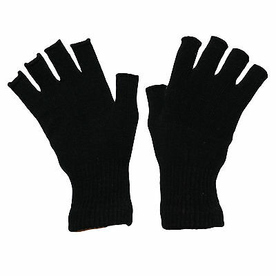 3pairs MENS FINGERLESS THERMAL STRETCH MAGIC GLOVES NEW