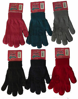 12 Prs WHOLESALE WINTER MAGIC GLOVES ASSORTED 65p