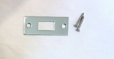 "Decorlux 2.75"" MBS-260 Mortise Bolt Door Strike Plate + Screws POLISHED CHROME"