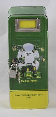 John Deere Metal Bank with Lock and Keys