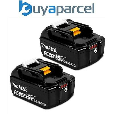 2 X Genuine Makita 18V 5.0Ah Li-Ion LXT Battery BL1850 5AH NEW STAR Battery