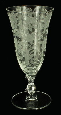 Vintage Cambridge Glass Wildflower Juice Stem #3121 Beautiful Elegant!