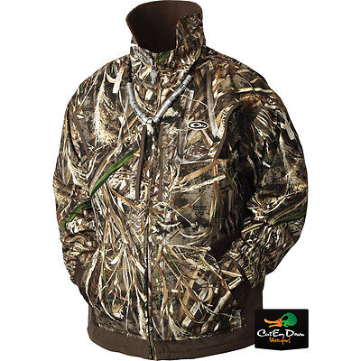 Drake Waterfowl Mst Fleece Lined Pullover Full Zip 2.0 Max-5 Camo Large