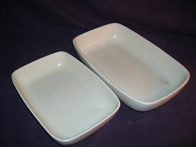 2 Vintage ? Haeger Rectangle Shaped Pottery # 3514 & # 3832