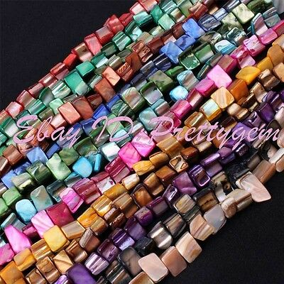"""3x7-5x9mm Natural Freeform Shell Mop Gemstone Beads For Jewelry Making Strand14"""""""