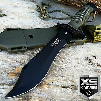 """12"""" Tactical BOWIE SURVIVAL HUNTING KNIFE Military Combat Fixed Blade - JVR57"""