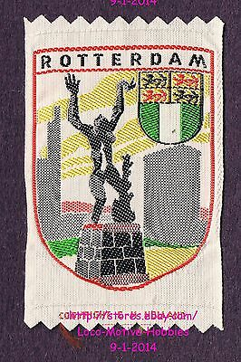 LMH PATCH Woven Badge  ROTTERDAM  Coat Arms  DESTROYED CITY STATUE  Netherlands
