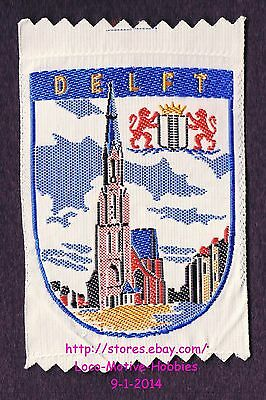 LMH PATCH Woven Badge  DELFT  Coat Arms NIEUWE KERK Cathedral Church Netherlands