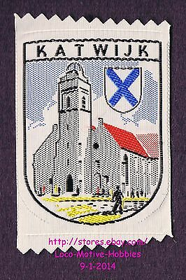 LMH PATCH Woven Badge  KATWIJK  Coat Arms OUDE KERK Cathedral Church Netherlands
