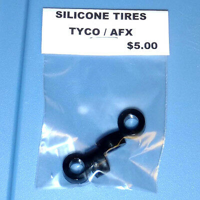 AFX / TYCO SILICONE REAR TIRES 4 (2 PAIRS) in PACKAGE HO SLOT CAR REPLACEMENTS