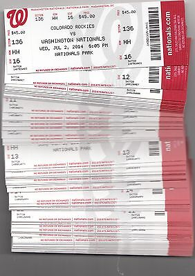 2014 Washington Nationals Pick Your Game Harper Strasburg 1St Half Ticket Stub