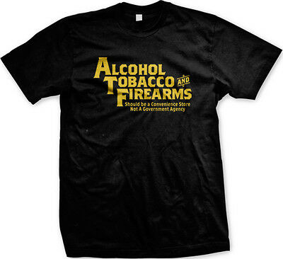 Alcohol Tobacco Firearms Not Government Agency Joke Humor Funny Hoodie Pullover