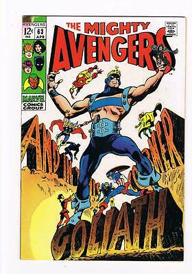 Avengers # 63  And in this Corner...Goliath ! grade 7.0 movie scarce hot book !!