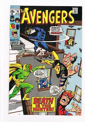 Avengers # 74  Death is the Hunter !  grade 6.5 movie scarce hot book !!