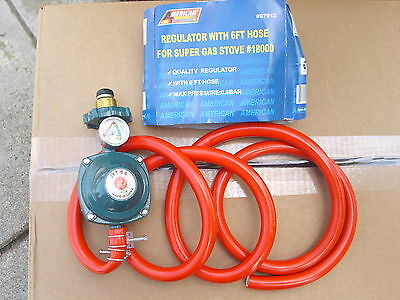 PROPANE REGULATOR WITH 6' HOSE FOR USE WITH SUPER GAS STOVE (NOT INCLUDED) 97912