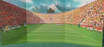 Barbie Retro 60 COLLEGE FOOTBALL STADIUM BACKDROP Great  DOLL DIORAMA DISPLAY