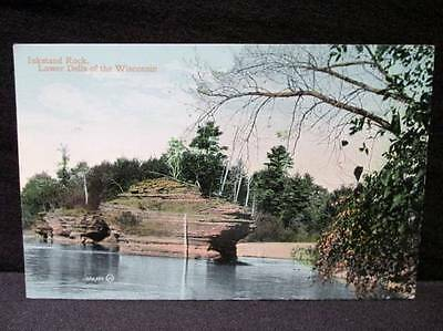Inkstand Rock Lower Dells of the Wisconsin 1910 Postcard Duluth Cancel