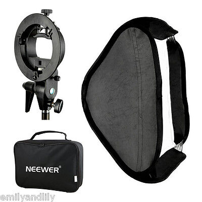 Neewer Studio Multifunctional S-type Speedlite Bracket+80x80cm Softbox+bag
