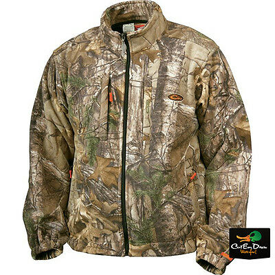 57fd3652c33c5 Drake Waterfowl Non-Typical Silencer Windproof Fleece Jacket Coat Xtra Camo  Xl