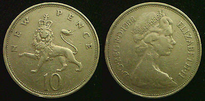 Large 10p 10 Pence 1968 to 1981. Choose your coin. Discounts up to 25%