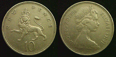 Large 10p 10 Pence 1968 to 1989. Choose your coin. Discounts up to 25%