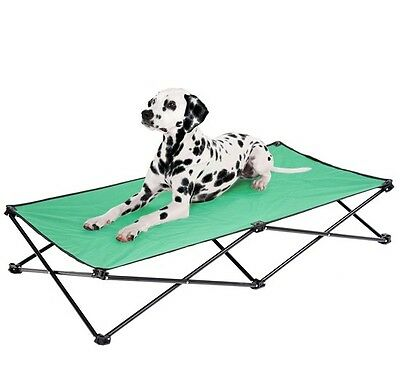 """Folding 53"""" Elevated Camping Pet Cot Portable Dog Cat Sleep Bed Green"""