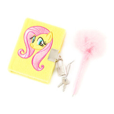 Hasbro My Little Pony FLUTTERSHY  Plush Diary with Lock NWT