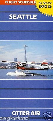 Airline Timetable - Otter Air - Summer 86 incl Vancouver Expo - Beaver photo