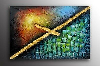Original Modern Abstract Painting Oil Contemporary Wall Art Large Framed