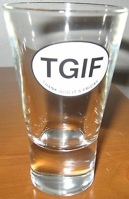 TGIF Thank God IT's Friday Cocktail Glass