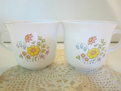 Corning Corelle Discontinued Vintage Spring Meadow Coffee Tea Cup set of 2