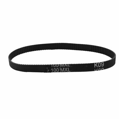 100MXL025 125-Tooth 6.4mm Wide Black Stepper Motor Synchronous Timing Belt 10""
