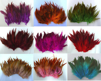 Beautiful 50/100PCS Rooster tail feathers 5-7inches/10-15cm Wholesale