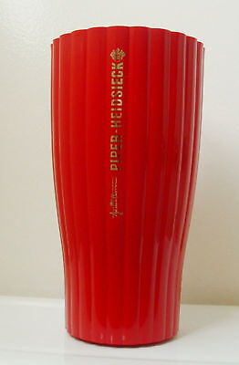 PIPER-HEIDSIECK CHAMPAGNE ICE COOLER - Wavy Red - Rare