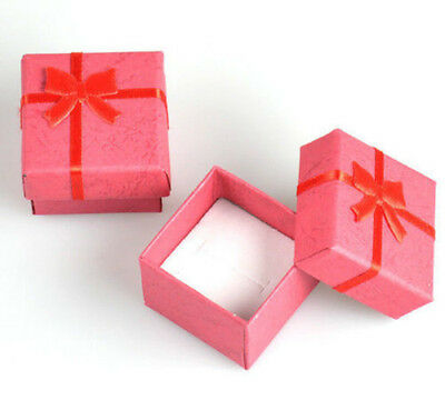 Wholesale lots 24pcs Romantic Red bowknot Ring gift Boxes JEWELRY SUPPLIES Hot