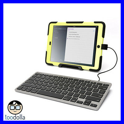 GRIFFIN Wired Keyboard for iPad/iPhone ideal for schools/business, battery free