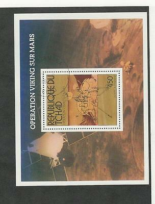 Chad, Postage Stamp, #C194 Used Sheet, 1976 Space