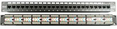 Universal 24 Ports Network Data Rack Patch Panel Rack Cat5/Cat5e/Cat6 1U RJ45