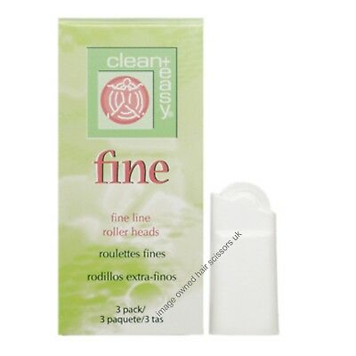 Fine Line Roller Heads for Waxing & Hair Removal by Clean + Easy (Pack of 3)