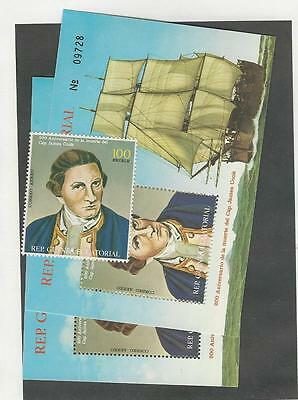 Guinea, Postage Stamp, Captain Cook Unlisted, 2 Sheets & Stamp
