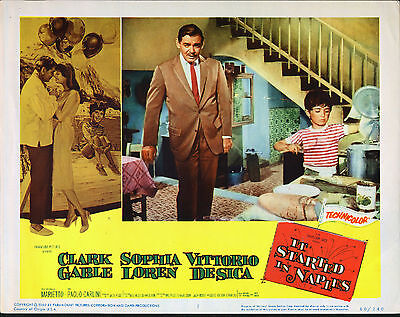 IT STARTED IN NAPLES original 1960 lobby card CLARK GABLE 11x14 movie poster