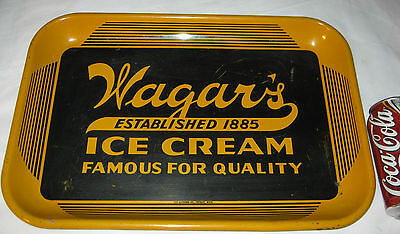Antique Primitive Wagars Advertising Ice Cream Dairy Country Art Tray Food Sign