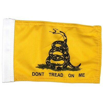 "DONT TREAD ON  ME MOTORCYCLE FLAG (6"" X 9"") INCH FLAG"