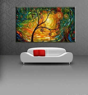 Large Modern Abstract Art Handmade Oil Painting Set Wall Decor On Canvas