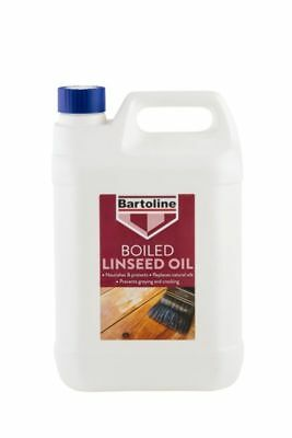 Bartoline Boiled Linseed Oil Wood Sealer and Protector Natural Sheen 5 Litre