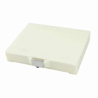 Beige Rectangular Covered 50 Slots Microscope Glass Slide Box Holder