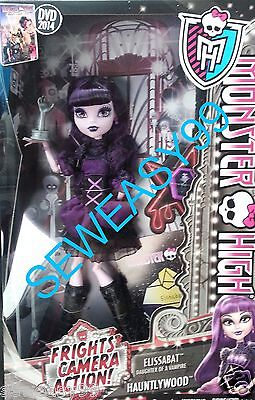 Monster High Elissabat Daughter of a Vampire Frights Camera Action Hauntlywood