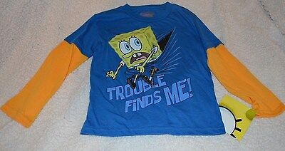 Boys Spongebob Long Sleeve Shirts sizes 2T, 3T, 4T Tops clothing FREE SHIPPING